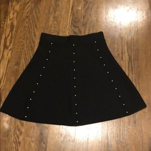Studded a line skirt